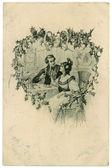 Valentine tag post card — Stockfoto
