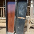 Coffin in wild west town — Stock Photo