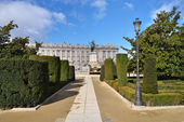 Madrid, Plaza de Oriente Central Gardens — Stock Photo