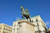 Monument to King Carlos III — Stock Photo