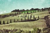 Paisagem rural toscana — Fotografia Stock