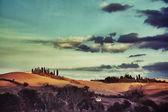 Tuscan rural landscape — Stock Photo