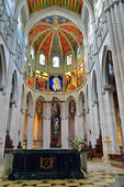 Interior of the cathedral La Almudena — Stock Photo