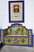 Bench from Andalusian tiles — Stock Photo