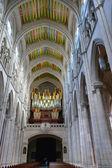 Organ in the cathedral La Almudena — Stock Photo