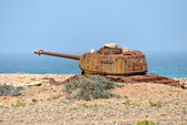 Socotra, battle tank, Yemen  — Stock Photo