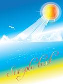 солнечный берег — Cтоковый вектор