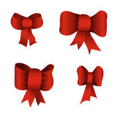 Red bows — Stock Vector