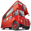 Stock Vector: London double decker bus