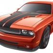 Stock Vector: Orange muscle car