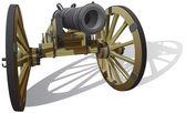 Ancient field gun — Stock Vector