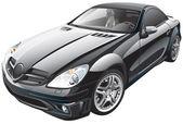 Black sport car — Stock Vector