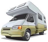 Compact camper — Stock Vector