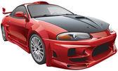 Devil's car — Stock Vector