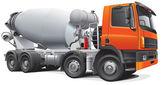 Large concrete mixer — Stock Vector