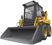 Marron clair skid steer loader.cdr — Vecteur