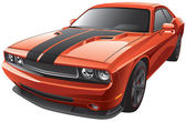 Orange muscle car — Stock vektor