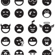 Black smiles - Imagens vectoriais em stock