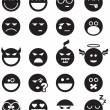 Black smiles - Image vectorielle