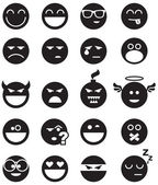 Black smiles — Vector de stock