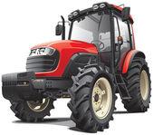 Kırmızı traktör — Stok Vektör