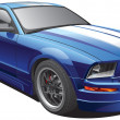 Blue muscle car - Stock vektor
