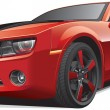 Red muscle car - Imagens vectoriais em stock