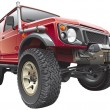 Red rally jeep - Imagen vectorial