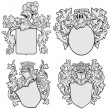 Stock Vector: Set of aristocratic emblems No1