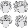 Stock Vector: Set of aristocratic emblems No2