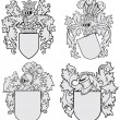 Set of aristocratic emblems No4 — Stock Vector