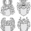 Stok Vektör: Set of aristocratic emblems No3
