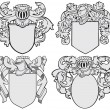 Set of aristocratic emblems No5 - Stock Vector