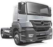 Heavy tractor unit — Stock Vector