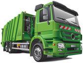 Modern garbage truck — Stock Vector