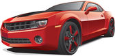 Red muscle car — Vector de stock