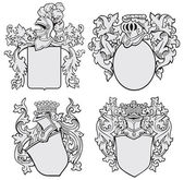 Set of aristocratic emblems No1 — Stock Vector