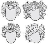 Set of aristocratic emblems No2 — Stock Vector