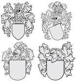 Set of aristocratic emblems No4 — Stock Vector