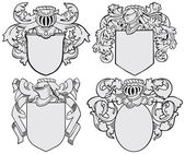 Set of aristocratic emblems No5 — Stock Vector