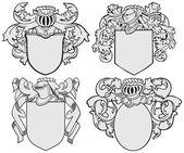 Set of aristocratic emblems No5 — Stock Vector