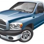 American full-size pickup — Stock Vector #24637571