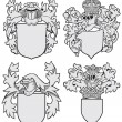 Set of aristocratic emblems - Stock Vector