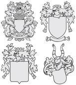 Set of aristocratic emblems — Stock Vector