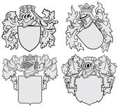 Set of aristocratic emblems — Stock Vector