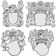 Stock Vector: Set of aristocratic emblems No11