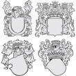 Set of aristocratic emblems No11 — Stock Vector