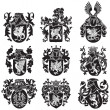 Stock Vector: Set of heraldic silhouettes No2