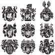Set of heraldic silhouettes No2 — Stock Vector #30635483