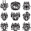 Stock Vector: Set of heraldic silhouettes No4